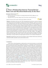 Transepidermal Water Loss and Microbial Biodiversity on the Skin?